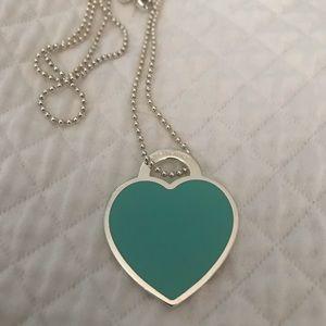 Tiffany & Co. Jewelry - RARE TIFFANY -large silver & blue heart